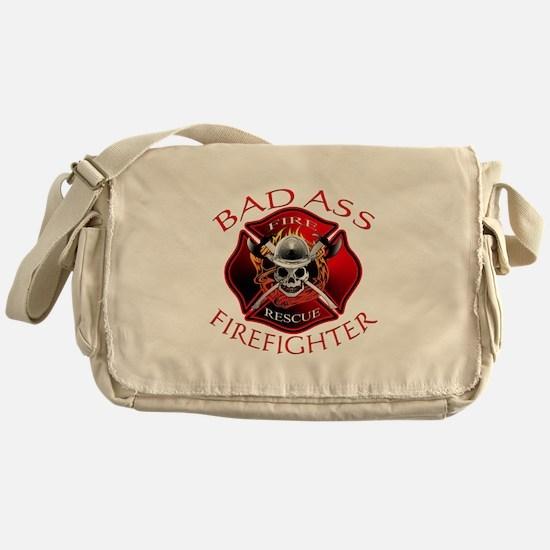 Bad Ass Firefighter Messenger Bag