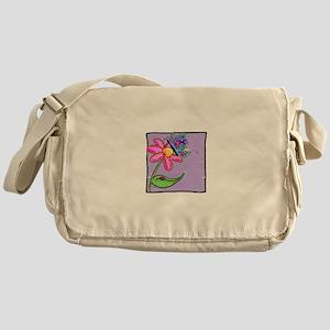 Butterfly, Ladybug & Flower Messenger Bag