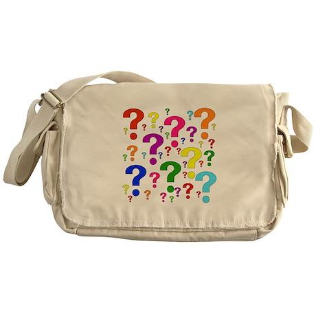 Rainbow Question Marks Messenger Bag