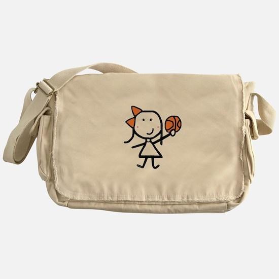 Girl & Basketball Messenger Bag