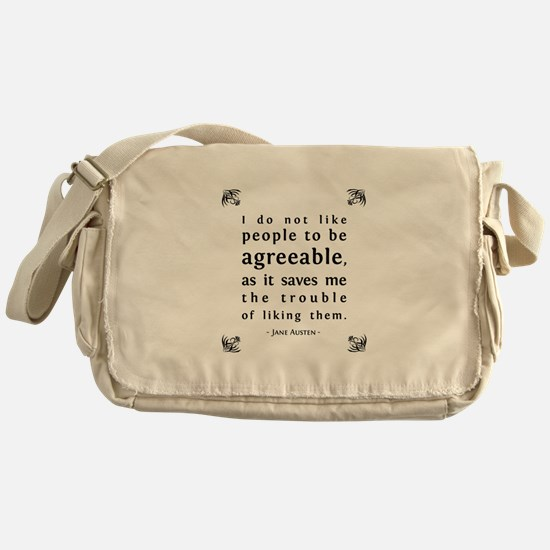 Agreeable People Messenger Bag