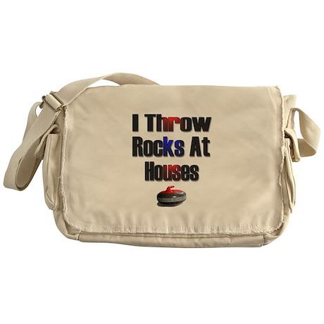I Throw Rocks at Houses Messenger Bag