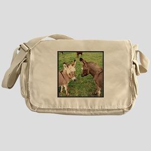 Two Baby Donkeys Messenger Bag