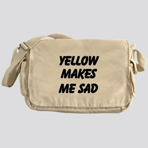 Yellow Makes Me Sad Messenger Bag