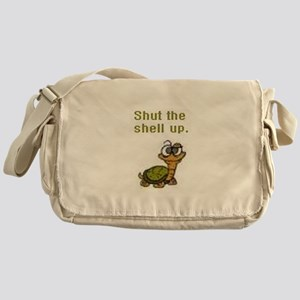 Shut the Shell up. Messenger Bag
