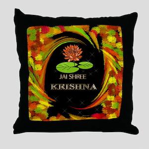 Jai Shri Krishna Throw Pillow