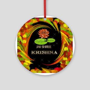 Jai Shri Krishna Ornament (Round)