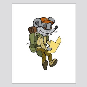 Backpacking Mouse Small Poster
