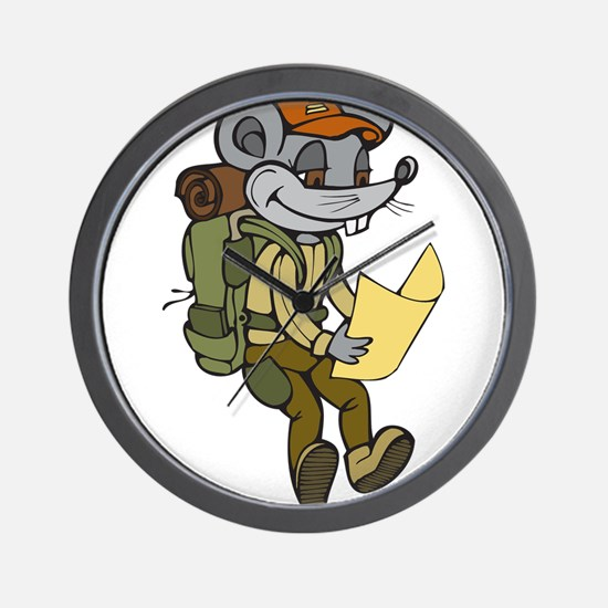 Backpacking Mouse Wall Clock