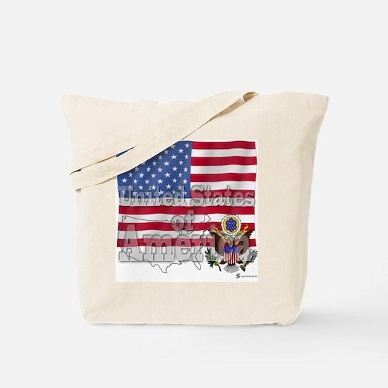 Silky Flag of America Tote Bag