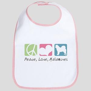 Peace, Love, Malamutes Bib
