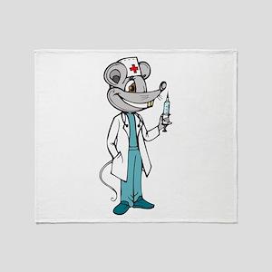 Doctor Nurse Mouse Throw Blanket