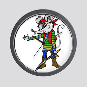 Pirate Mouse Wall Clock