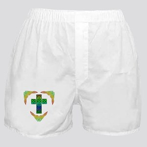 Glowing Celtic Cross Boxer Shorts