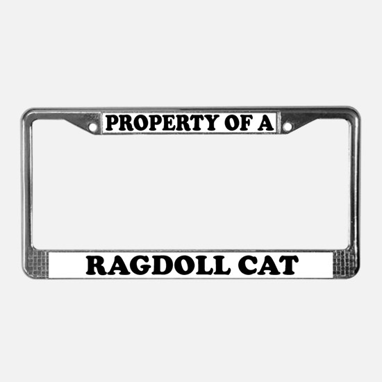 Property Of A Ragdoll Cat License Plate Frame