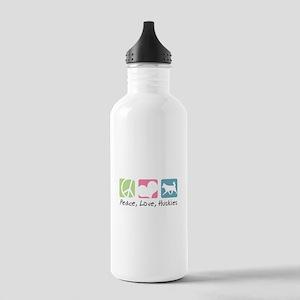 Peace, Love, Huskies Stainless Water Bottle 1.0L