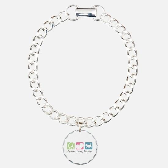 Peace, Love, Huskies Bracelet