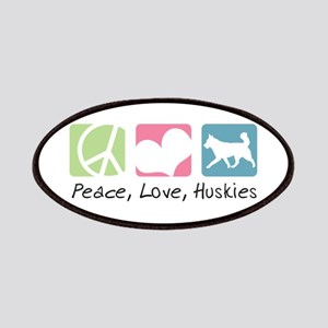 Peace, Love, Huskies Patches