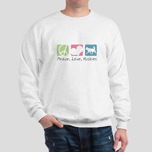 Peace, Love, Huskies Sweatshirt