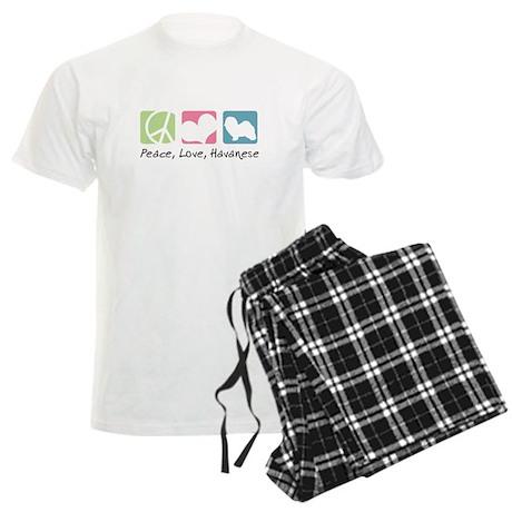 Peace, Love, Havanese Men's Light Pajamas