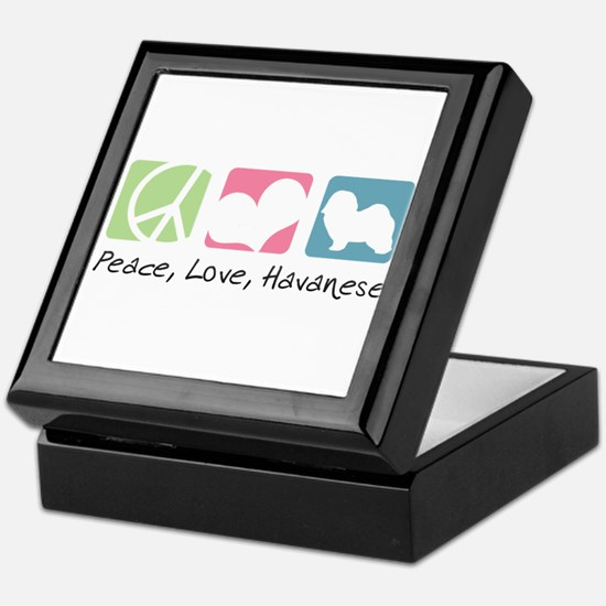 Peace, Love, Havanese Keepsake Box
