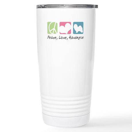 Peace, Love, Havanese Stainless Steel Travel Mug