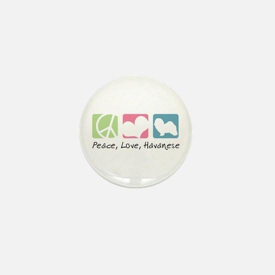 Peace, Love, Havanese Mini Button