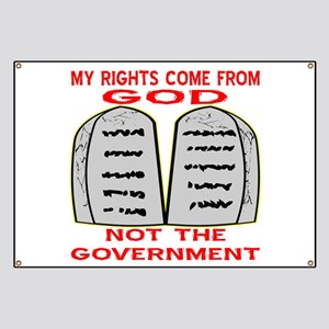 My Rights Come From God Banner
