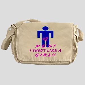 Yes I Shoot Like A Girl Messenger Bag