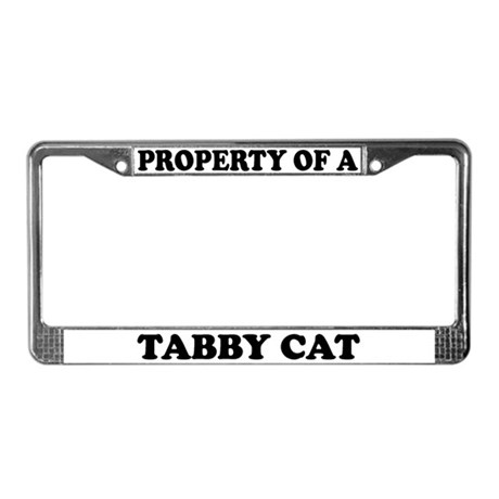 Property Of A Tabby Cat License Plate Frame