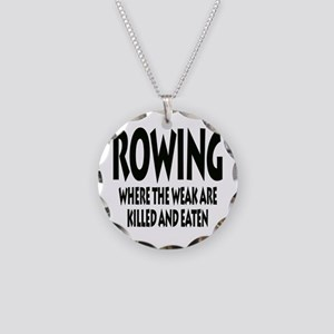 Rowing Where The Weak Are Ki Necklace Circle Charm