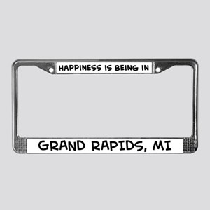 Happiness is Grand Rapids License Plate Frame
