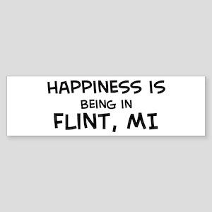 Happiness is Flint Bumper Sticker
