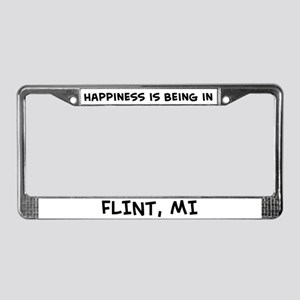 Happiness is Flint License Plate Frame