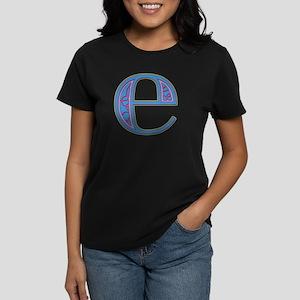 E Blue Glass Women's Dark T-Shirt