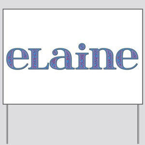 Elaine Blue Glass Yard Sign