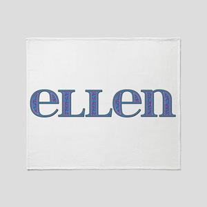 Ellen Blue Glass Throw Blanket