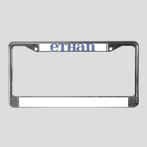 Ethan Blue Glass License Plate Frame