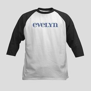 Evelyn Blue Glass Kids Baseball Jersey