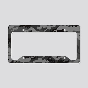 Black Camo License Plate Holder