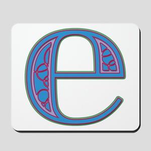 E Blue Glass Mousepad