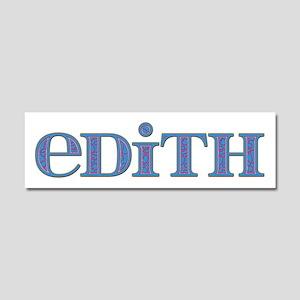 Edith Blue Glass 10x3 Car Magnet