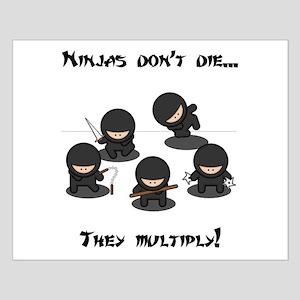 Ninjas Multiply Small Poster