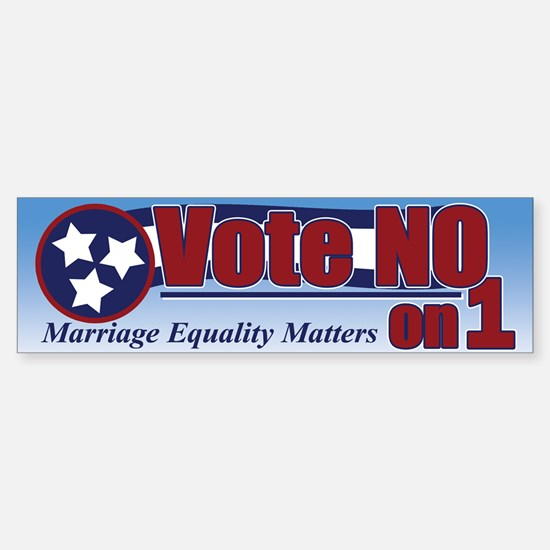 Vote NO on 1 TN Bumper Bumper Bumper Sticker