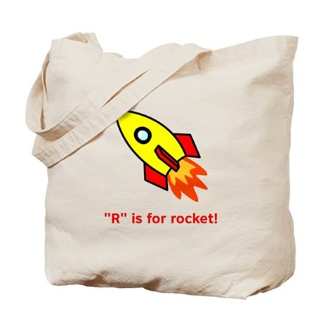 R is for Rocket Tote Bag