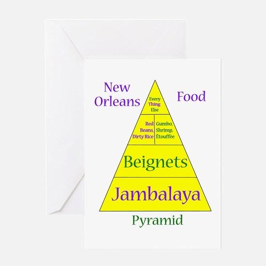 New Orleans Food Pyramid Greeting Card
