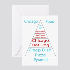 Chicago Food Pyramid Greeting Card