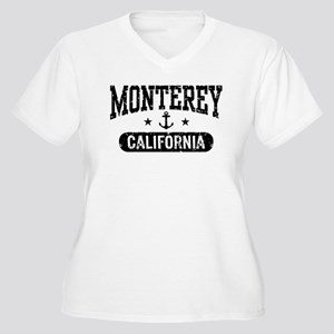 Monterey California Women's Plus Size V-Neck T-Shi