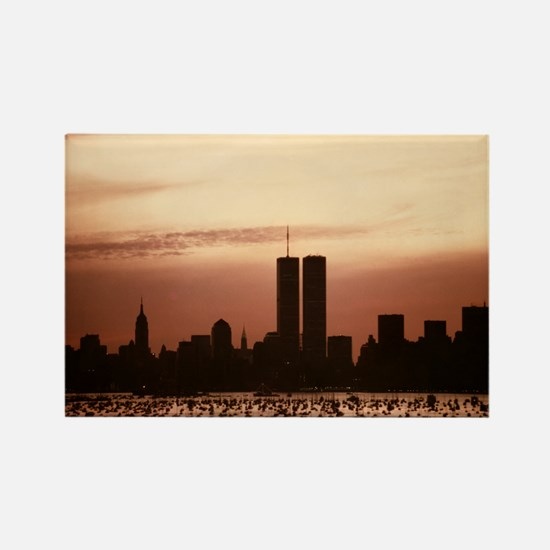 Dawn Over Liberty Rectangle Magnet