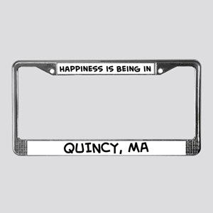 Happiness is Quincy License Plate Frame